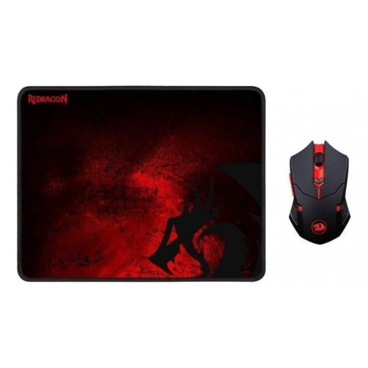 Combo Redragon Gamer Inalambrico Mouse+ Pad Mouse M601wl-ba