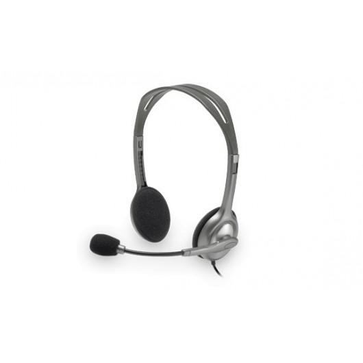 Diadema Estéreo Logitech H111 Micrófono Supresión De Ruidos