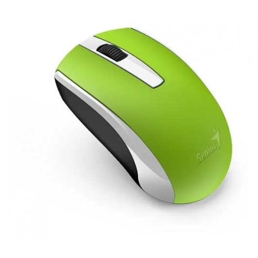 Mouse Inalámbrico Ecologico Recargable Genius Eco-8100 Verde